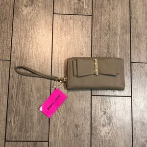 Betsey Johnson bow wallet with strap
